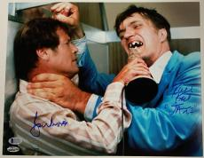 ROGER MOORE RICHARD KIEL Signed 11x14 Photo James Bond Beckett COA  # 007 of 007