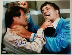 ROGER MOORE RICHARD KIEL Signed 11x14 Photo James Bond Beckett COA  #'ed of 007