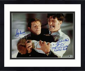 ROGER MOORE RICHARD KIEL Signed James Bond 11x14 Photo # /007 ~ Beckett BAS COA