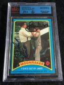 Roger Moore & Richard Kiel Signed 1979 James Bond Moonraker Card #54 Jsa/bvs Bgs