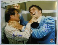 ROGER MOORE RICHARD KIEL Signed James Bond 11x14 Auto PSA/DNA COA OC Hologram A