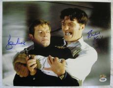 ROGER MOORE RICHARD KIEL Signed James Bond 11x14 Auto PSA/DNA COA OC Hologram B