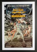 "Roger Moore, Robert Kiel & Corinne Clery Framed Autographed 37"" x 25"" Moonraker Movie Poster - Beckett COA"