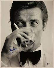 Roger Moore Signed 11x14 James Bond 007 photo auto #4 w/ Beckett BAS COA