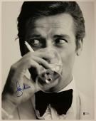 Roger Moore Signed 11x14 James Bond 007 photo auto #4 w/ Beckett BAS COA