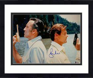 Roger Moore Signed 11x14 James Bond 007 photo auto #5 w/ Beckett BAS COA