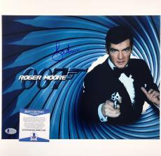 Roger Moore Signed 11x14 James Bond 007 photo auto #8 w/ Beckett BAS COA