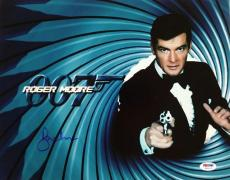 Roger Moore Signed 11x14 Photo #4 James Bond 007 Autograph w/ PSA/DNA COA