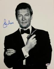 Roger Moore Signed 11x14 Photo #5 James Bond 007 Autograph w/ PSA/DNA COA