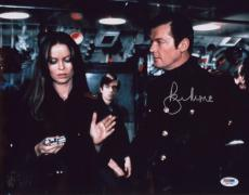 Roger Moore Signed 11x14 Photo Auto Psa/dna W41726