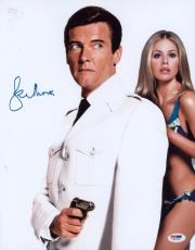 Roger Moore Signed 11x14 Photo Auto Psa/dna W41790