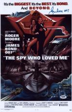 "Roger Moore Signed 11x17 James Bond Inscribed ""007"" Mini Poster Psa/dna Aa67479"