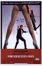 "Roger Moore Signed 11x17 James Bond Inscribed ""007"" Mini Poster Psa/dna Aa67480"