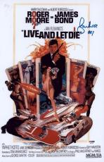 "Roger Moore Signed 11x17 James Bond Inscribed ""007"" Mini Poster Psa/dna Aa67534"