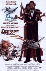 "Roger Moore Signed 11x17 James Bond Inscribed ""007"" Mini Poster Psa/dna Aa67539"