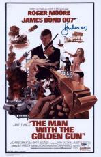 "Roger Moore Signed 11x17 James Bond Inscribed ""007"" Mini Poster Psa/dna Aa67561"