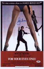 Roger Moore Signed 11x17 James Bond Mini Poster Psa/dna Aa67497
