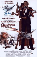 Roger Moore Signed 11x17 James Bond Mini Poster Psa/dna Aa67558