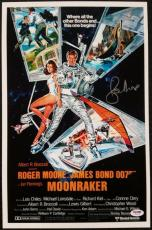 Roger Moore Signed 11x17 Photo MOONRAKER movie poster James Bond 007 w/  PSA/DNA