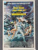 ROGER MOORE Signed 24x36 Moonraker Replica Movie Poster James Bond 007 PSA/DNA