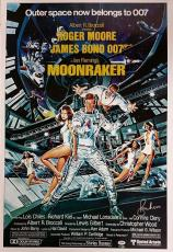 ROGER MOORE Signed 24x36 Moonraker Replica Movie Poster James Bond 007 PSA/DNA
