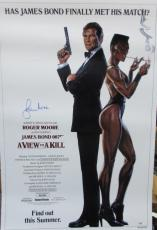 Roger Moore Signed 27x40 James Bond 007 A View To A Kill Poster Psa/dna X48480
