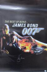 Roger Moore Signed 27x40 James Bond 007 The Best Of Bond.. Poster Psa/dna X48481