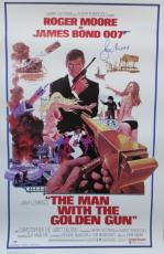 Roger Moore Signed 27x40 James Bond 007 The Man W/ The Golden Gun Psa/dna X48531