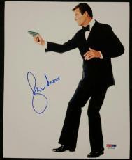 Roger Moore Signed 8x10 James Bond 007 photo auto #1 w/ PSA/DNA COA