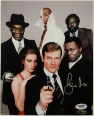 Roger Moore Signed 8x10 James Bond 007 photo auto #10 w/ PSA/DNA COA