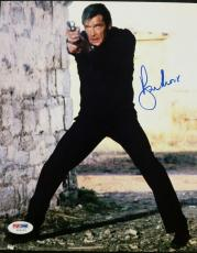 Roger Moore Signed 8x10 James Bond 007 photo auto #2 w/ PSA/DNA COA