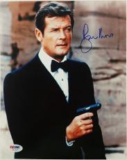 Roger Moore Signed 8x10 James Bond 007 photo auto #3 w/ PSA/DNA COA