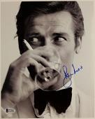 Roger Moore Signed 8x10 James Bond 007 photo auto #4 w/ Beckett BAS COA