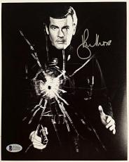 Roger Moore Signed 8x10 James Bond 007 photo auto #7 w/ Beckett BAS COA