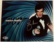 Roger Moore Signed 8x10 James Bond 007 photo auto #8 w/ Beckett BAS COA