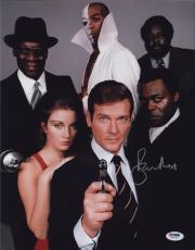 Roger Moore Signed Authentic Photo 11x14 James Bond 007 Psa W41743
