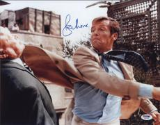 Roger Moore Signed Authentic Photo 11x14 James Bond 007 Psa W41762