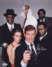 Roger Moore Signed Authentic Photo 11x14 James Bond 007 Psa Z75526