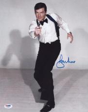 Roger Moore Signed Authentic Photo 11x14 James Bond 007 Psa Z75591
