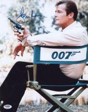 Roger Moore Signed Authentic Photo 11x14 James Bond 007 Psa Z75654