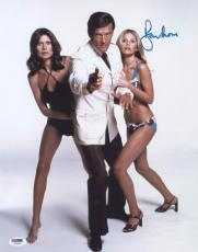 Roger Moore Signed Authentic Photo 11x14 James Bond 007 Psa Z75666