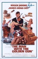Roger Moore Signed Authentic Photo 11x17 James Bond 007 Psa Z75685
