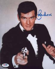 Roger Moore Signed Authentic Photo 8x10 James Bond 007 Psa Z75479