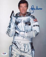 Roger Moore Signed Authentic Photo 8x10 James Bond 007 Psa Z75491
