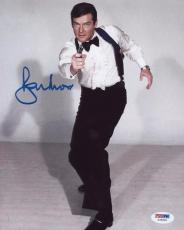 Roger Moore Signed Authentic Photo 8x10 James Bond 007 Psa Z75503