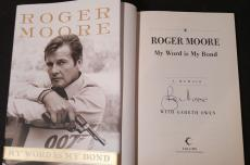 Roger Moore Signed Autographed Book My Word Is My Bond 1st Print Beckett BAS