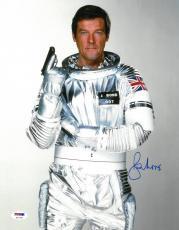 Roger Moore Signed Bond Authentic Autographed 11x14 Photo PSA/DNA COA