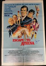 Roger Moore Signed Escape To Athena 28x40 Original Movie Poster 1979 w/ PSA/DNA