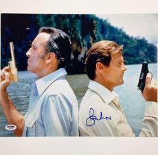SIR ROGER MOORE Signed 007 James Bond 11x14 Photo Auto PSA/DNA COA Autograph