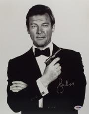 Roger Moore Signed James Bond '007' 11x14 Photo *The Original J. Bond* PSA 90568